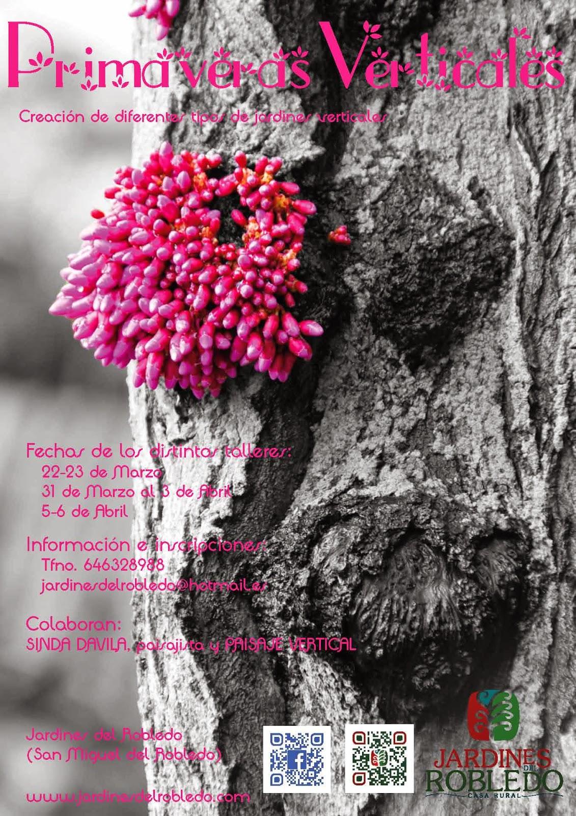 Primaveras verticales en los jardines del robledo - Jardines del robledo ...