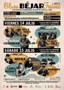14 y 15 de Julio: XVIII FESTIVAL INTERNACIONAL DE BLUES EN BÉJAR