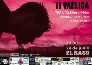 II Carrera Vaélica - El Raso el 24 de junio: carrera infantil, carrera popular de 4 km y trail de 12,8 km