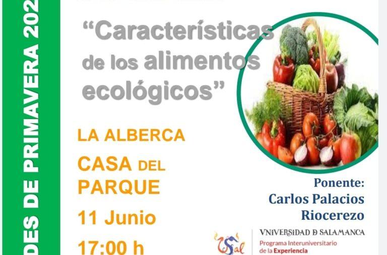 """El 11 de Junio charla «Características de los alimentos ecológicos"""" y exposición de Fotografía Serie Fauna hasta el día 30 de Junio."""