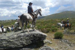 Concentración a caballo dentro del Festival del Piorno en Flor de Gredos Norte