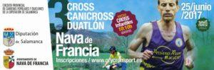 Cross , Canicross y Duatlon en la Nava de Francia