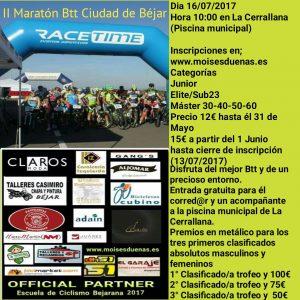 II Maraton Btt Ciudad de Béjar el 16 de julio
