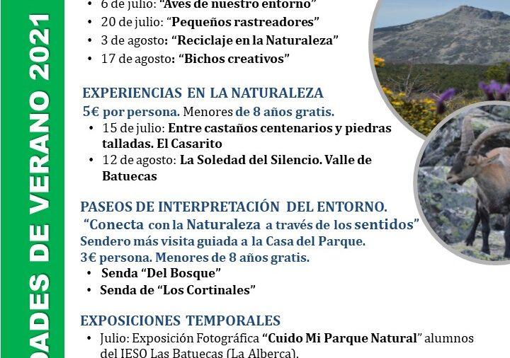 Este Verano se llena de actividades en El Parque de las Batuecas