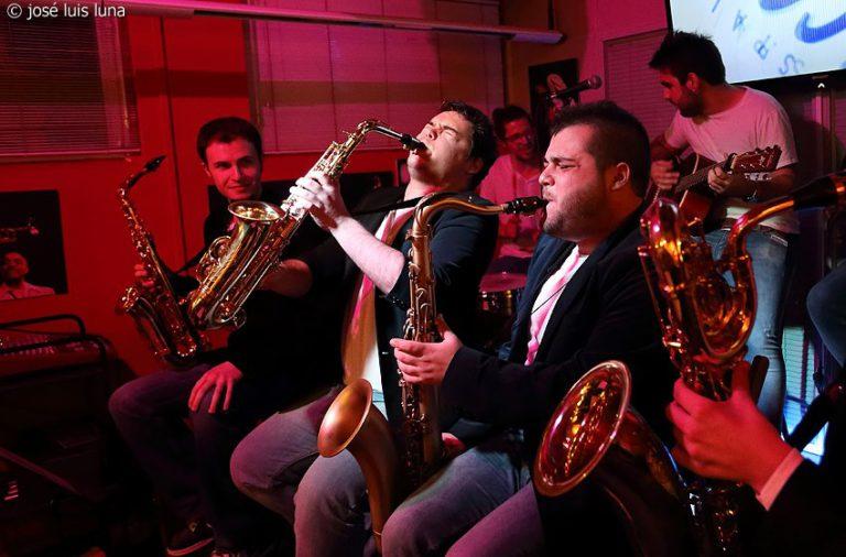 Saxophobia Funk Project + Sesión JanPol Rodrigo DJ el 20 de mayo en El Picaporte