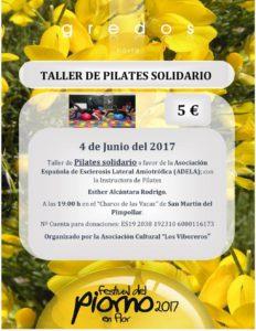 Taller de Pilates Solidario a favor de la Asociación Española de Esclerosis Lateral Amiotrófica (ADELA): en San Martín del Pimpollar el 4 de junio